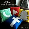 Almofadas Redes Sociais (Nara Stella) Tags: whatsapp snapchat facebook youtube almofadas decoração casa quarto sala festasinfantis