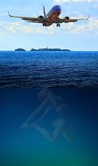 A Need For Air (swong95765) Tags: ocean sea flight air sky woman depth needs cutaway