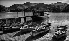 Dertwent Water Boats b&w. (Tall Guy) Tags: tallguy uk ldnp lakedistrict derwentwater cumbria boats keswick