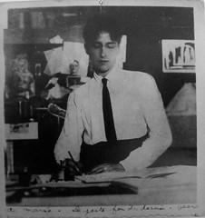 les portraits (4) (canecrabe) Tags: jean cocteau photographie envoi poète fou dessin dédicace