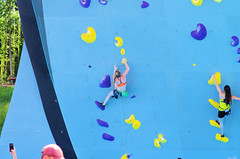 POP_8041 (Philip Osborne Photography) Tags: nationalwhitewatercenter charlotte nc tuckfest womensdeepwater rock climbers pro woman shorts sports bra athletic active ponytail falling kyracondie alexjohnson biminihorstman deepwatersolo climbing 2017