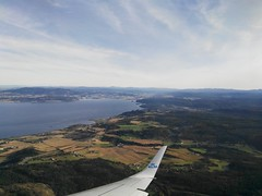 IMG_20161006_112537 (VagabonDali) Tags: norway norvegia plane aereo travel klm viaggio destinazione arrivo destination arrival green sky verde cielo up alto fiordo natura nature airplane fly volare
