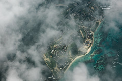 Goodbye ... (mariola aga) Tags: puntacana dominicanrepublic shoreline buildings resorts clouds airplane flight aerialview atlanticocean ocean reef green turquoise water