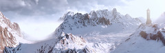 Frozen (~Scimo~) Tags: thewitcher screenshot panorama landscape snow mountain tower schnee landschaft turm berg licht light wolken clouds fantasy