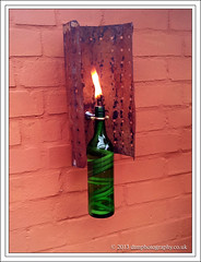 wine bottle (D.T.Morris) Tags: david home lamp bottle wine made homemade lantern morris citronella dtmphotography