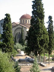 034 - Church through trees (Scott Shetrone) Tags: other graveyards events churches places athens greece 5th kerameikos anniversaries