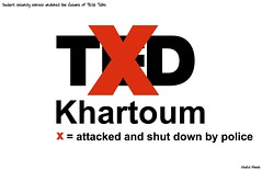 TEDx (khalid Albaih) Tags: logo tv map sudan political cartoon s x tex khartoum khalid separation sudanese 2013 albaih