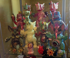 PK shelf (locomoto566) Tags: boss paul toys vinyl joe salamander carrion kaiju mockbat