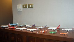 1:400 models that I Got from Bangkok (mohammad340) Tags: phoenix plane asia pacific swiss bangkok air models emirates thai a380 british airways klm qantas lufthansa gemini cathay nok 1400