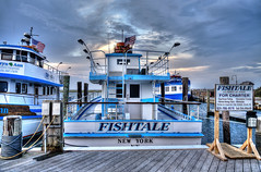Captree's Fishtale (NYRBlue94) Tags: ocean county new york sunset sea fish ny beach water evening pier boat suffolk dock oak ship babylon charter captree fishtale bestcapturesaoi