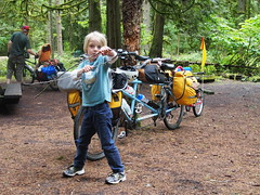 Indiana Jones and his whip (Andy Smitty Schmidt) Tags: family camping camp bike bicycle kids children kid tandem piccolo burley panniers arkel