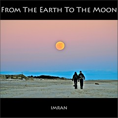 From The Earth To The Moon. Commemorating Moon Landing July 20, 1969 - IMRAN -- 2500+ Views! (ImranAnwar) Tags: sky people inspiration history beach nature night square outdoors nikon couple framed peaceful longisland boardwalk spacetravel imran 2010 prose d300 patchogue imrananwar 2013