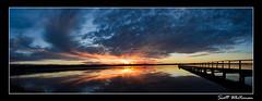 Macdonalds Panorama 2 (Scott Whiteman) Tags: sunset panorama nature water clouds nikon nsw centralcoast fadinglight longjetty d7000