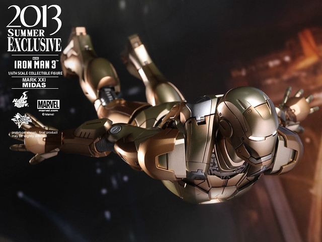 Hot Toys - MMS208 - 鋼鐵人3:鋼鐵人 馬克21 金霸王(Mark XXI Midas)