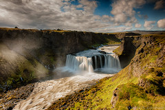 Axlarfoss (Kristinn R.) Tags: sky clouds waterfall iceland nikon basaltcolumns fjallabak d3x nikonphotography hólmsá axlarfoss kristinnr