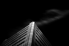 Golden (StefanB) Tags: california longexposure bw motion building monochrome architecture clouds sanjose structure geotag 2013 em5 1235mm flvonmirikr