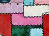 Stitches and Rivets (Steve Taylor (Photography)) Tags: pink blue red white abstract green texture hole halftone lilac stitches material seam rivet stiches