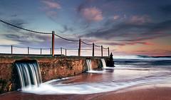Rush...... (tara.bowen) Tags: ocean longexposure sunset beach canon sydney australia nsw tidalpool monavale