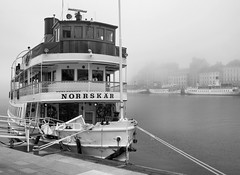 IMG_2781 ed (BumbyFoto) Tags: travel mist fog harbor boat europe sweden stockholm quay sverige scandinavia