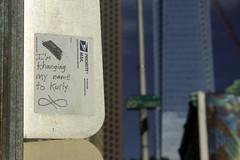 Curly With A 'K' (phillytrax) Tags: city urban usa streetart philadelphia america stickerart unitedstates pennsylvania centercity pa curly philly logansquare archstreet slaps comcastcenter cityofbrotherlylove comcastbuilding comcasttower postallabelgraffiti