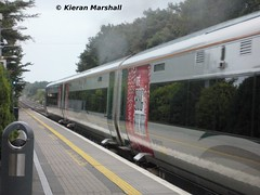 22046 departs Portlaoise, 27/9/13 (hurricanemk1c) Tags: irish train empty rail railway trains railways irishrail rok rotem 22046 portlaoise icr rté iarnród 2013 22000 éireann iarnródéireann 3pce rtebigmusicweek laoistraincareinchicore specialdecals
