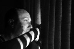 2/52 Blinded By the Light (Mark - G) Tags: light portrait selfportrait window self blinds