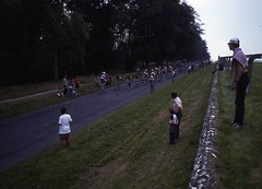 1982 World Cycling Champ031 (Tim Callaghan) Tags: cycling jones 1982 bikes flags kelly 35mmslides roads crowds goodwood lemond saroni worldroadracechampionships