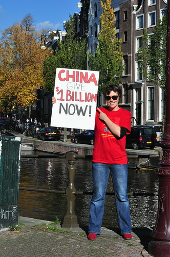Amsterdam: China Global Fund Protest