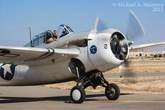 Tom Camp's FM-2 Wildcat (Michael A. Mainiero Aviation Photography) Tags: yak display vacaville days airshow cj mustang wildcat trojan lockheed albatros texan fm2 flyin t6 flyby p51 grumman lodestar l39 nanchang t28 pt19 d18 mustangdays