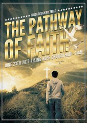 The Pathway of Faith Flyer Poster Template (Ponda Graphics) Tags: man church photoshop way print poster design flyer cross path faith jesus sunday christian celebration study wise bible service psd sermon template cmyk editable