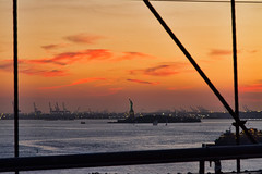 NYC2013_019 (cheryl strahl) Tags: nyc newyorkcity sunset brooklynbridge statueofliberty