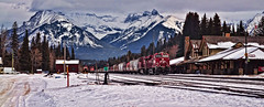 Canadian Pacific Railway (jsf23mr) Tags: park winter snow canada mountains calgary nikon national labs banff topaz lightroom d5000
