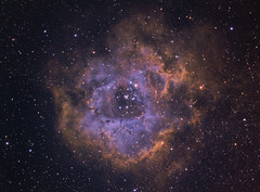 Rosette Nebula HST/RGB (Chuck Manges) Tags: space nebula astrophotography astronomy rosette ngc2244 qhy astrotech ngc2437 Astrometrydotnet:status=solved qhyccd at65edq qhy9m qhy5lii Astrometrydotnet:id=nova189951