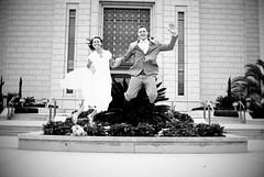 jump photo bw (KkleinRN) Tags: wedding mike temple honduras stroud kelsie 2013