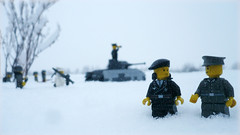 "Battle of the Bulge ""Siege of Bastogne"" (Rebla) Tags: winter white snow cold outside lego outdoor wwii battle german ww2 ulrich bulge brickarms brickizimo siegeofbastogne"