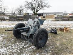 Soviet 45 mm anti-tank gun M1937 used by German reenactors (The Adventurous Eye) Tags: gun budapest 45 ii soviet mm pocket