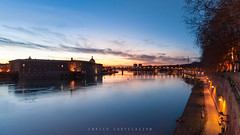 La Garonne (korte84) Tags: sunset france toulouse garonne coucherdesoleil enricocortelazzo