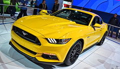 2015 Ford Mustang GT (Chad Horwedel) Tags: chicago ford car yellow illinois chicagoautoshow mustanggt fordmustanggt 2015fordmustanggt