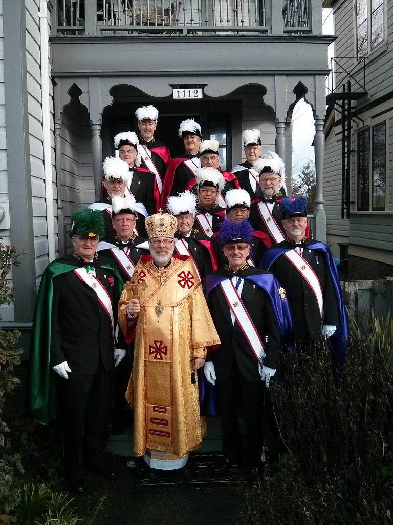 State Chaplain, Bishop Ken Nowakowski, with Honour Guard