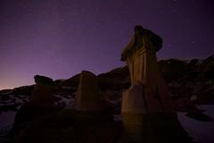 the Holy Grail (John Andersen (JPAndersen images)) Tags: longexposure winter night stars drumheller alberta geology hoodoos reddeerriver milkyway cretaceous weathernetwork canon6d jpandersenimages canonef2470f28iiusm