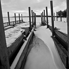 inside (local paparazzi (isthmusportrait.com)) Tags: park wood winter sky blackandwhite bw white snow black cold texture blancoynegro blanco beach lines clouds contrast canon square lost pier iso200 frozen is wooden lowlight downtown shadows panel post zoom cloudy 28mm tripod negro grain freezing overcast line pole forgotten covered crop cropped chilly usm af madisonwi fullframe nodiving shape slant ef squared crooked 2x4 chilled slowshutterspeed autofocus isthmus f4l windchill 24105mm tennypark danecountywisconsin photoshopelements7 5dmarkii canon5dmarkii pse7 madisonparks localpaparazzi redskyrocketman polarvortex canon24105mmf4lisefusmaf