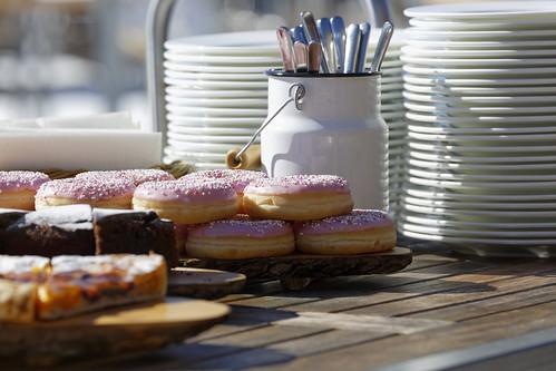 Kuchen und Donuts