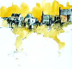 Brancaster Fishing Sheds (Les Williams) Tags: paintings brancasterstaithe