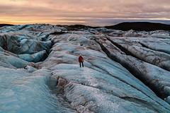 Early Morning on the Skaftafellsjökull Glacier (Craig Hannah) Tags: skaftafellsjökullglacier iceland glacier crevasse earlymorning walking lone ice craighannah february roadtrip winter sky clouds sunrise light landscape outdoors