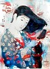 Bad Hair Day (sjrankin) Tags: 18march2017 edited processed filtered goyo womanwithcomb combinghair ukiyoe print illustration art japaneseart