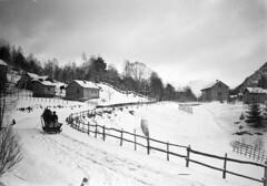 The farm Farsund, ca. 1910-1944. (Fylkesarkivet i Sogn og Fjordane) Tags: norway noreg norge sognogfjordane sunnfjord førde olaifauske farm winter farsund house buildings horse sleigh