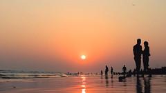 Puri..... Romance Never Ends (pallab seth) Tags: couple romantic sunset silhouette odisha puri bayofbengal india joyoflife samsungnx300m samsung16mmf24ifunctionlens sea seabeach evening outdoor landscape candid orissa 2016