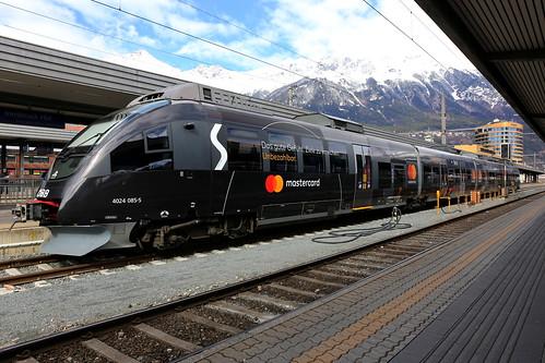 ÖBB 4024 085-5 Mastercard, S-Bahn Innsbruck Hbf