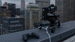 DO NOT try this at home, folks. I am a highly skilled professional. (Mike Orso) Tags: timelapse nyc spectrum rooftop emotimocart
