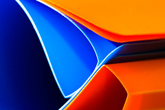 File under... (In Explore - 4-4-17) (Barrie T) Tags: macromonday orange blue macro abstract